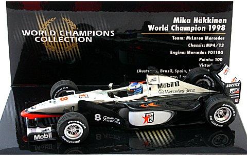 マクラーレン メルセデス MP4-13 M・ハッキネン ワールドチャンピオン 1998 (1/43ミニチャンプス436980008)