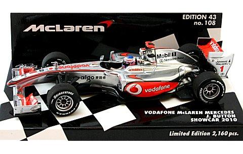 ボーダフォン マクラーレン メルセデスJ・バトン ショーカー 2010 (1/43 ミニチャンプス530104371)