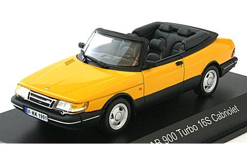サーブ 900 ターボ 16 S カブリオレ 1991 モンテカルロイエロー (1/43 ノレブ810040)