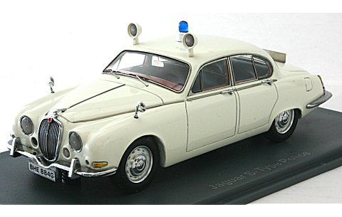 ジャガー Sタイプ 3.4 ポリスカー 1965 ホワイト (1/43 ネオNEO43948)