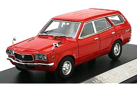 マツダ サバンナ スポーツワゴン GR 1972 レッド (1/43 ハイストーリーHS034RE)
