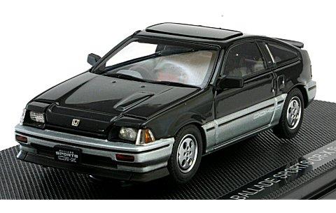 ホンダ バラード スポーツ CR-X Si 1984 ブラック (1/43 エブロ44372)