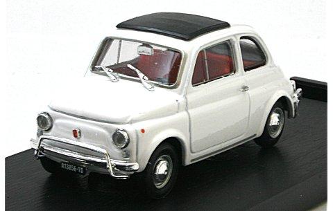 フィアット 500L (1968-1972) クローズドルーフ オーラルホワイト (1/43 ブルムR465-03)