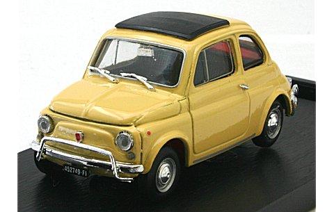 フィアット 500L (1968-1972) クローズドルーフ タイティイエロー (1/43 ブルムR465-05)