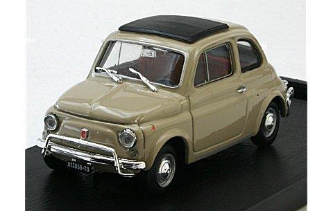 フィアット 500L (1968-1972) クローズドルーフ サッビアベージュ (1/43 ブルムR465-09)