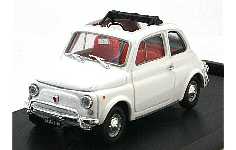 フィアット 500L (1968-1972) オープンルーフ オーラルホワイト (1/43 ブルムR464-03)