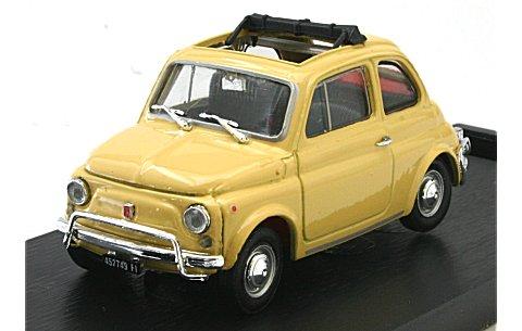 フィアット 500L (1968-1972) オープンルーフ タイティイエロー (1/43 ブルムR464-05)