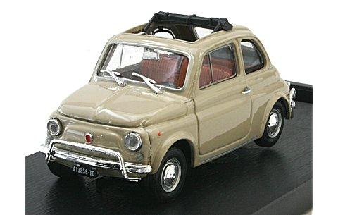 フィアット 500L (1968-1972) オープンルーフ サッビアベージュ (1/43 ブルムR464-09)