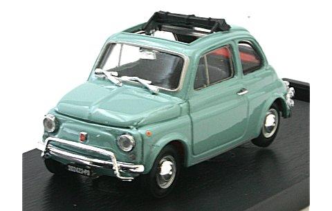 フィアット 500L (1968-1972) オープンルーフ ガルダグレー (1/43 ブルムR464-10)