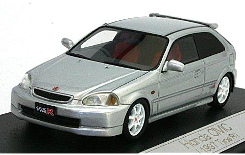 ホンダ シビック 1997 TypeR ヴォルグシルバーマイカ (1/43 ハイストーリーHS040SL)