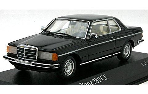 メルセデスベンツ 280 CE クーペ (W123) 1976 ブラックM (1/43 ミニチャンプス430032228)