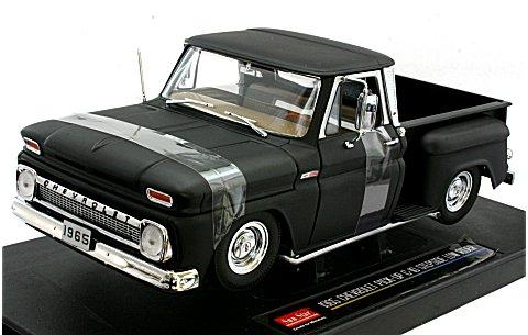 シボレー ピックアップ C-10 STYLESIDE 1965 ブラック (1/18 サンスター1388)