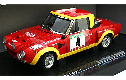 フィアット 124 ABARTH RALLYE No4 Winner Rallye de Portugal 1974 (1/18 サンスター4949)