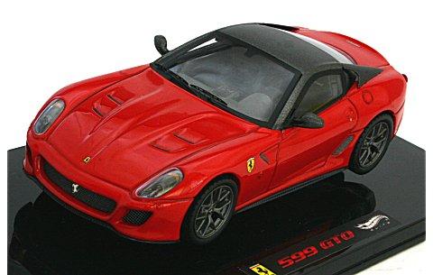 フェラーリ 599GTO レッド/ルーフ:グレーシルバー (エリートシリーズ) (1/43 マテルMT6267T)