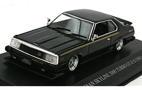 スカイライン HT 2000 ターボ GT-E・S 後期型 カスタムスタイル ブラック (1/43 ディズム088203)