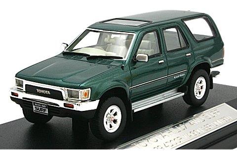 トヨタ ハイラックス 4WD サーフ 1989 4ドア SSR LIMITED グリーンマイカ (1/43 ハイストーリーHS041GR)