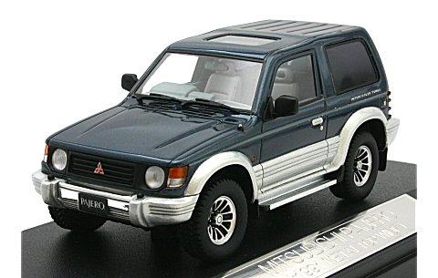 ミツビシ パジェロ METAL TOP WIDE 1991 ノルマンディーブルー/グレースシルバー (1/43 ハイストーリーHS042BL)