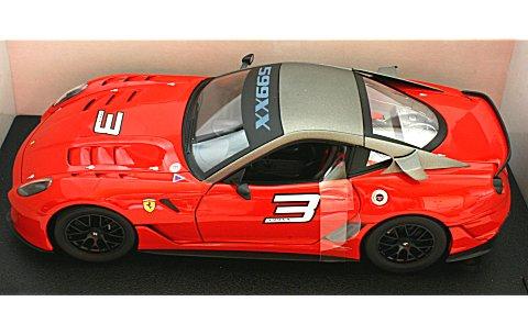 フェラーリ 599 XX レッド (1/18 マテルMT7432V)
