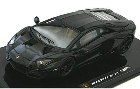 ランボルギーニ アヴェンタドール LP700-4 ブラック (エリートシリーズ) (1/43 マテルMT7430V)