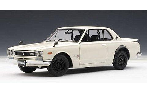 ニッサン スカイライン ハードトップ 2000 GT-R (KPGC10) ホワイト (1/18 オートアート77383)
