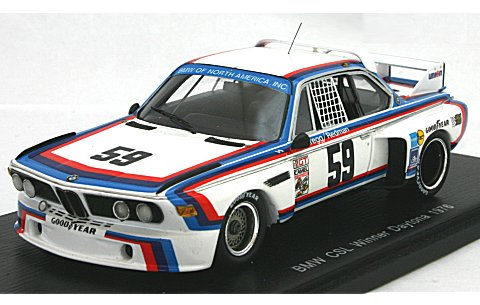 BMW CSL 1976 デイトナ優勝 No59 (1/43 スパークモデル43DA76)