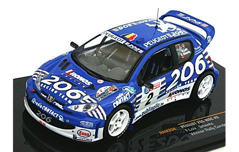 プジョー 206 WRC NO2 2003 ラリー・コンドロス優勝 (1/43 イクソRAM334)