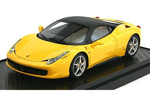 フェラーリ 458 イタリア 2010 「V・Rossi プライベートカー」 イエロー/マットブラックルーフ (1/43 BBR BBRC22VR)