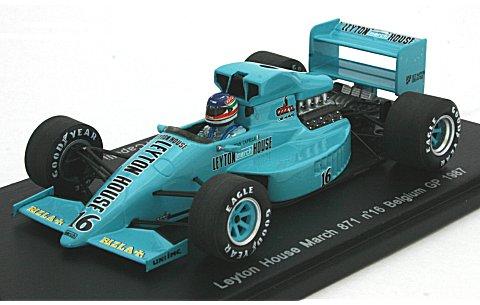 レイトンハウス マーチ 871 1987 ベルギーGP No16 (1/43 スパークモデルS1680)