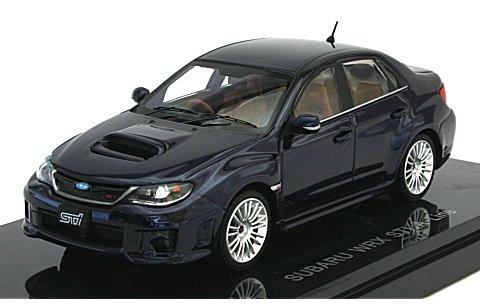 スバル インプレッサ WRX STI 4ドア Aライン ブルー (1/43 エブロ44397)