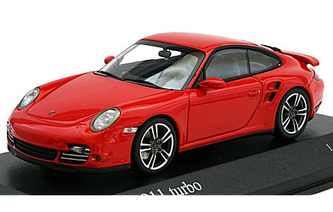 ポルシェ 911 ターボ (997II) 2010 レッド (1/43 ミニチャンプス400069000)