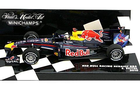 レッドブル レーシング ルノー RB6 S・ベッテル 2010 (1/43 ミニチャンプス410100005)