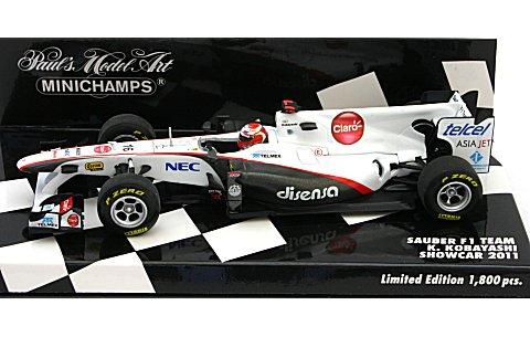 ザウバー F1 チーム 小林可夢偉 ショーカー 2011 (1/43 ミニチャンプス4100110086)