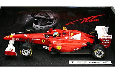 フェラーリ F150th Italia 2011 F・アロンソ (ドライバー付) (1/18 マテルMT1073W)