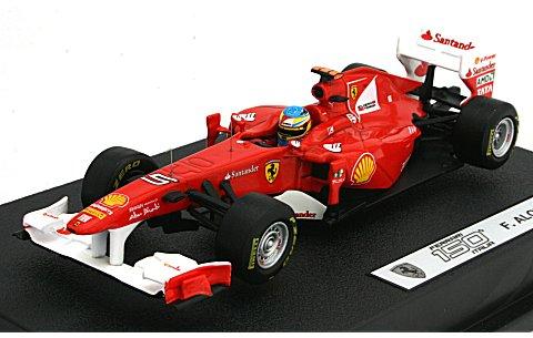 フェラーリ F150th Italia 2011 F・アロンソ (ドライバー付) (1/43 マテルMT1075W)