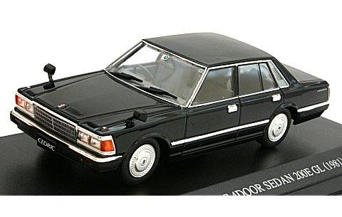 430 セドリック 4ドアセダン 200E GL 後期型 ブラック (1/43 ディズム087800)