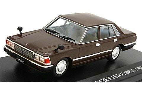430 セドリック 4ドアセダン 200E GL 後期型 ブラウン (1/43 ディズム087817)