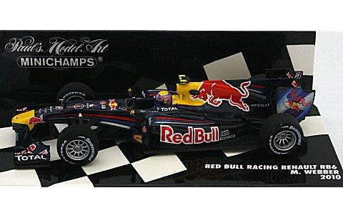 レッドブル レーシング ルノー RB6 M・ウェバー 2010 (1/43 ミニチャンプス410100006)