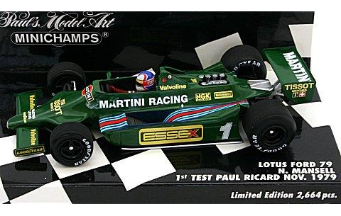 ロータス フォード 79 N・マンセル F1初テストドライブ ポ−ルリカール 1979年10月 (1/43 ミニチャンプス400790099)