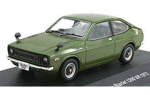 トヨタ スターレット 1200SR 1973 ブラックオリーブ (1/43 イクソKBI053)