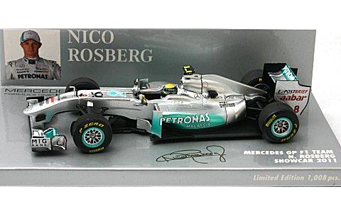 メルセデス GP N・ロズベルグ ショーカー 2011 (1/43 ミニチャンプス410110078)
