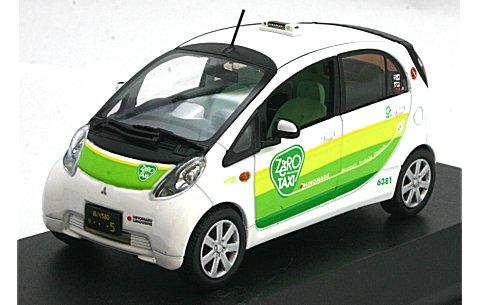 ミツビシ I-MiEV 「ZERO」 タクシー ホワイト/グリーン (1/43 JコレクションJC59007TX)