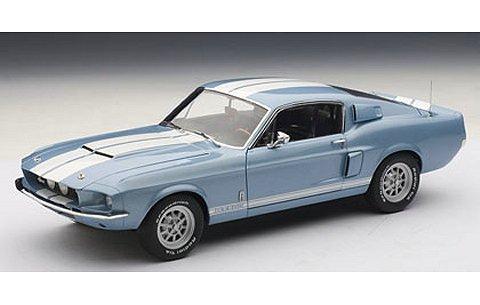 シェルビー マスタング GT500 1967 ブルー/ホワイトストライプ (1/18 オートアート72907)