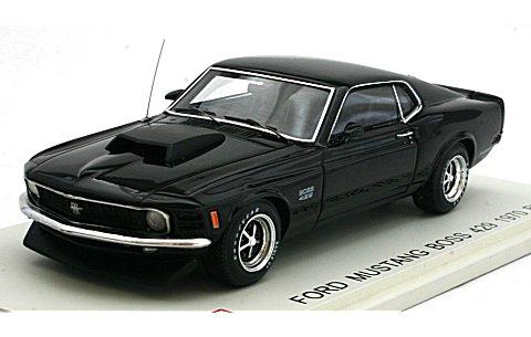 フォード マスタング BOSS 429 1970 ブラック (1/43 ポストホビーPS003C)