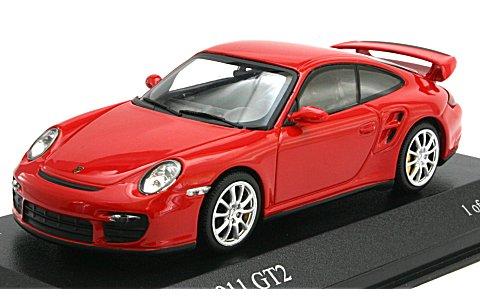 ポルシェ 911 GT2 2007 レッド (1/43 ミニチャンプス400066301)
