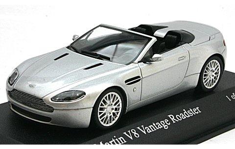 アストンマーチン V8 バンテージ ロードスター 2008 シルバー (1/43 ミニチャンプス400137430)
