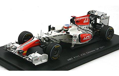 HRT F111 No22 2011 中国GP (1/43 スパークモデルS3016)