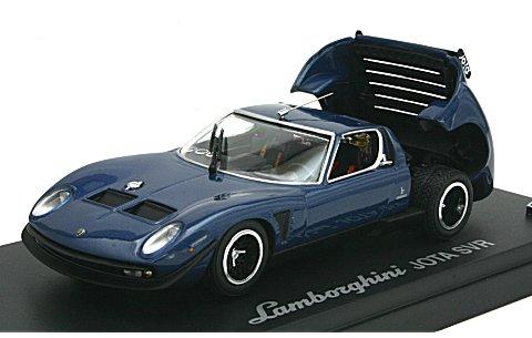 ランボルギーニ イオタ SVR ブルー/ブラック (1/43 京商K03201BLK)