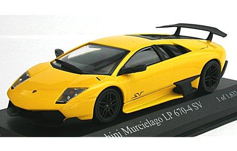ランボルギーニ ムルシエラゴ LP670-4 SV 2009 イエロー (1/43 ミニチャンプス400103940)