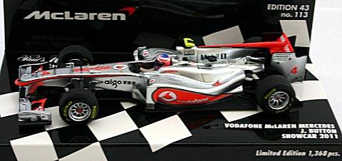 ボーダフォン マクラーレン メルセデス J・バトン ショーカー 2011 (1/43 ミニチャンプス530114374)