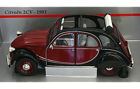 シトロエン 2CV 1980 「チャールストン」 レッド/ブラック(1/18 ミニチャンプス150111501)
